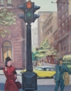 September in New York. Figurative Malerei, Thomas de Marsay